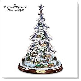 Thomas Kinkade Let It Snow Animated And Musical Tabletop Tree