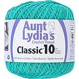 Aunt Lydia 154.0962 Classic Crochet Thread, Jade (Color: Jade)