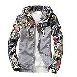 Men's Tops, Leedford Men Slim Stand Collar Jackets Fashion Sweatshirt Jacket Tops Casual Coat Outwear (Gray, XL)