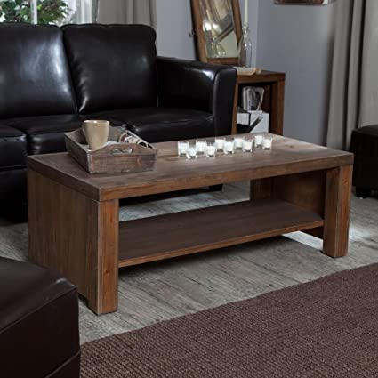 Belham Living Brinfield Rustic Solid Wood Coffee Table