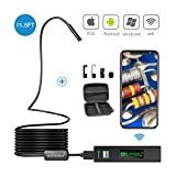 Wireless Endoscope, GOODAN Updated 1200P HD Wireless Borescope Wifi Inspection Camera With 2.0 Megapixels For Iphone and Android Smartphone, Table, Ipad, PC - Black (11.5FT) - Include Carrying Case (Color: 3.5M Wireless Endoscope)