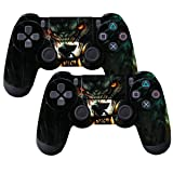 SubClap 2 Packs PS4 Controller Skin, Vinyl Decal Sticker Cover for Sony PlayStation 4 DualShock 4 Wireless Controller (Animal) (Color: Animal)
