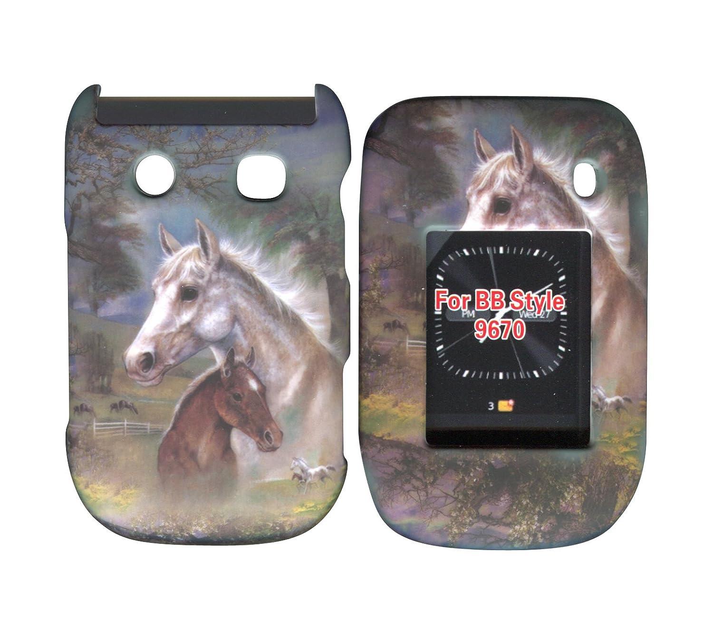 Racing Horses Blackberry Style, Flip 9670 Case Cover Hard Phone Cover Case Faceplates deuter giga blackberry dresscode