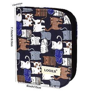 LOOEN New Set of 47 Ergonomic Crochet Hooks Set w Rubbery Handles Hook 0.6-6MM, Comfort Grip for Arthritic Hands (Black) (Color: Black)