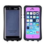 Ipega Waterproof Shockproof Snowproof Ip67 Hard Case Shell Cover Compatible with Apple Iphone 5 5s 5c Purple