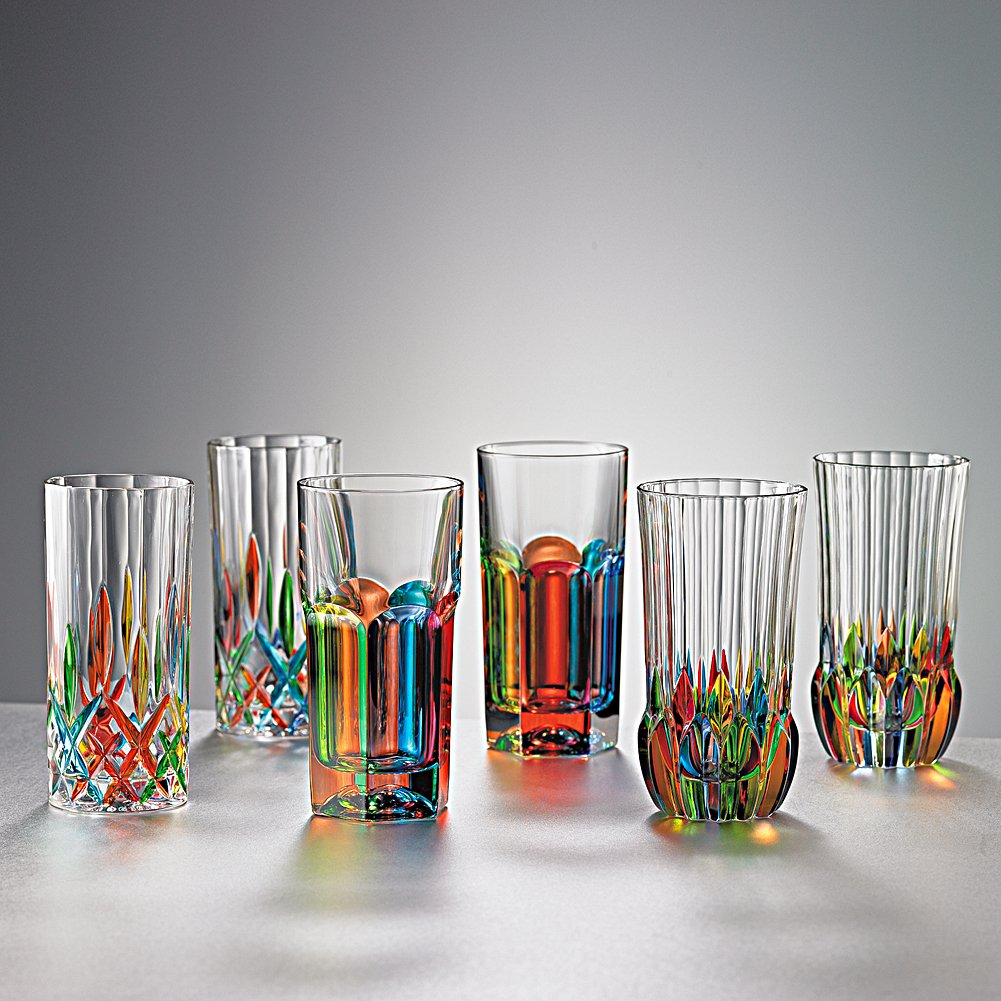 Smithsonian Italian Hand-Painted Crystal Tumblers