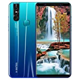 Shan-S X27 Plus 1+4G Eight Core 5.8 inch HD Full Screen Smartphone for Android 8.0 WiFi Blueteeth GPS 3G Dual SIM Dual Standby Call Face/Fingerprint Unlocked Mobile Phone Smart Cellphone (Color: Blue)
