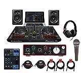 Pioneer DDJ-RB DJ Studio Monitor Starter Pack +MG06 +Focusrite 2i2 +SM58 +Cables