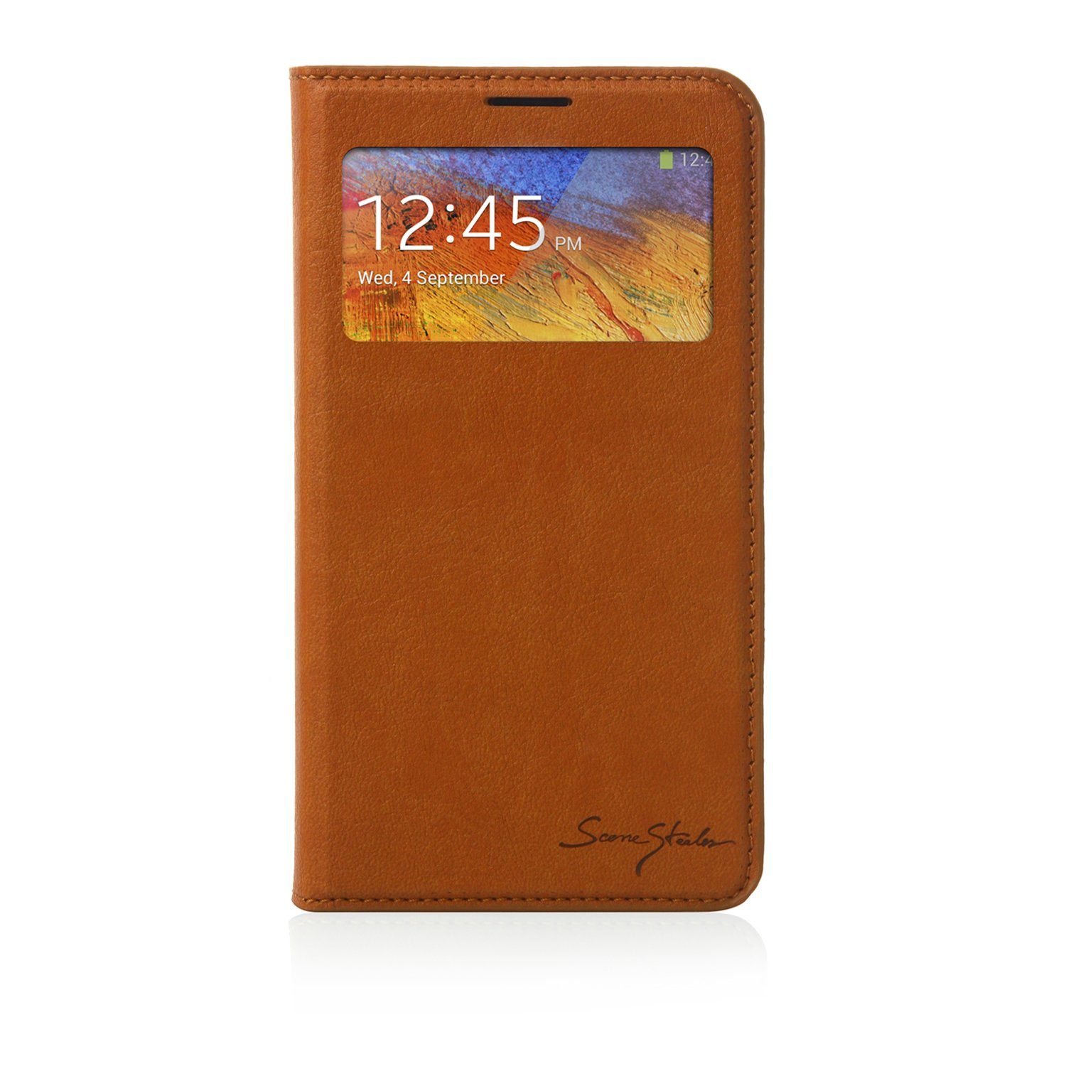 Samsung Galaxy Note 3 Case Italian Standing Window View - Brown