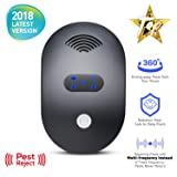 Snoogg Ultrasonic Pest Repeller 2018 New Electronic Mice Repellent with Multi-Frequency Ultrasound to Repel Rat,Mosquito,Roach,Ant, Fly and Spider-No Trap, Baits, Sprayer & No Pest Can Immune (Black) (Color: Black)