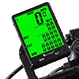 Cycle Computer, Bike Odometer Speedometer for Bicycle, Waterproof LCD Automatic Wake-up Backlight Motion Sensor for Biking Cycling Accessories (Color: Wireless-Black)