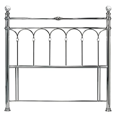 Bentley Designs Krystal Antique Nickel 1.52 meters 2466H KIng Size Kopfteil fur Kingsize-Bett, Metall
