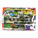 Metro Army Military Combat 43 Piece Mini Toy Diecast Vehicle Play Set, Comes with Street Play Mat, Variety of Vehicles and Figures (Color: Multi-colored, Tamaño: 50 Piece Military)