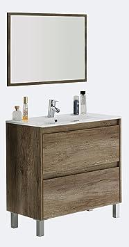 Vanity 2Drawers + Mirror +, Mod Charles