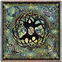 Pure Country Weavers Celtic Tree of Life Tapestry Small Blanket 4550-T 53 inches wide by 53 inches l