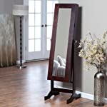 Modern Jewelry Armoire Cheval Mirror
