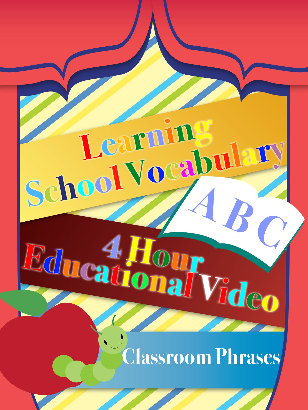 Learning School Vocabulary 4 Hour Educational Video Classroom Phrases on Amazon Prime Instant Video UK