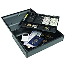 MMF Industries Steelmaster Elite Security Case with Keyed Lock, 4.125 x 11.75 x 14.75 Inches, Charcoal Grey (2217020G2)