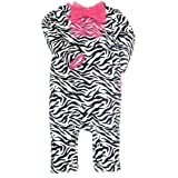 Zebra Print Coverall with Ruffle Bow and Rumba Ruffles by Baby Starters