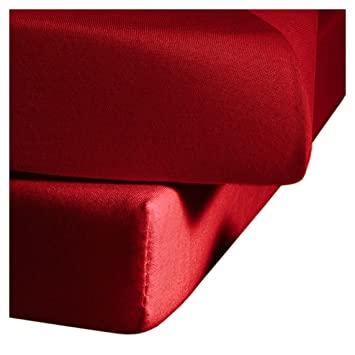 fleuresse1212 couleurcouleur251drap housseenjersey120 x200cmrouge cuisine maison ee299. Black Bedroom Furniture Sets. Home Design Ideas