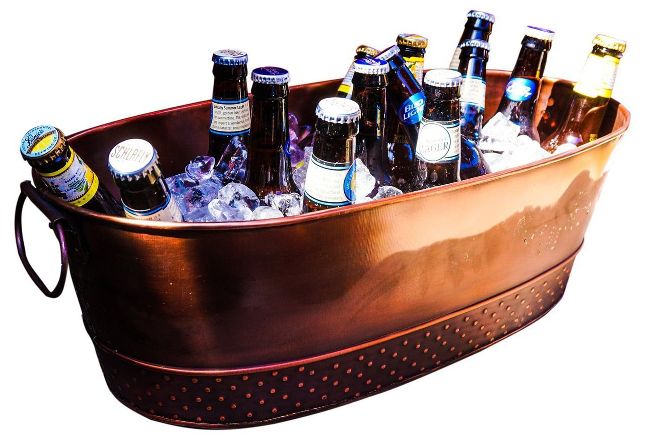 BREKX Colt Copper Finish Beverage Tub, Medium, Bronze 0