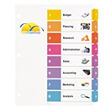 Avery Ready Index Table of Contents Dividers, 8-Tab Set (11133)