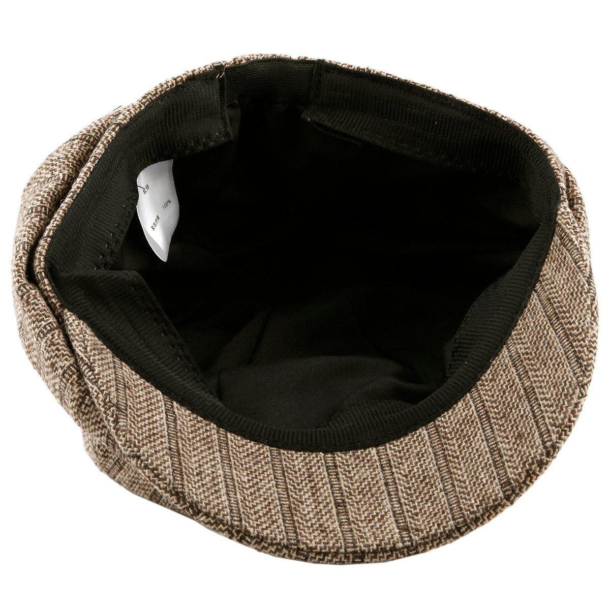 Moonsix Newsboys Hats,Unisex Winter Berets Hat Woolen Cotton Cabbie Cap 2