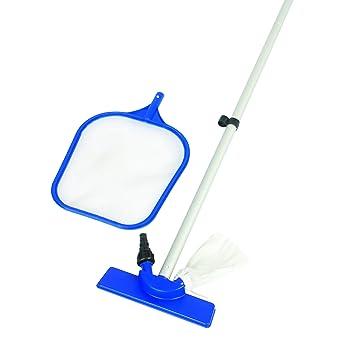 o0o bestway kit d 39 entretien pour piscine piscine bleu 254 cm jardin m166. Black Bedroom Furniture Sets. Home Design Ideas