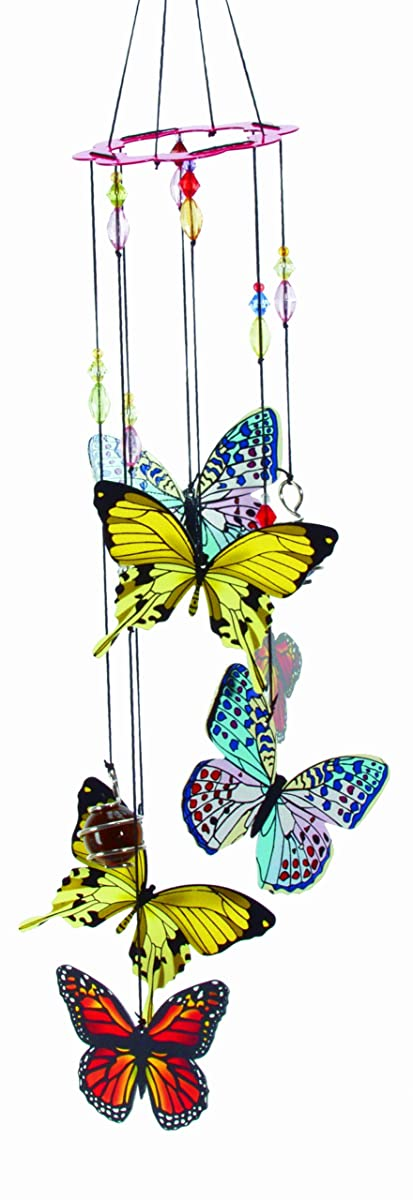 Spoontiques Butterfly Handpainted Metal Chime