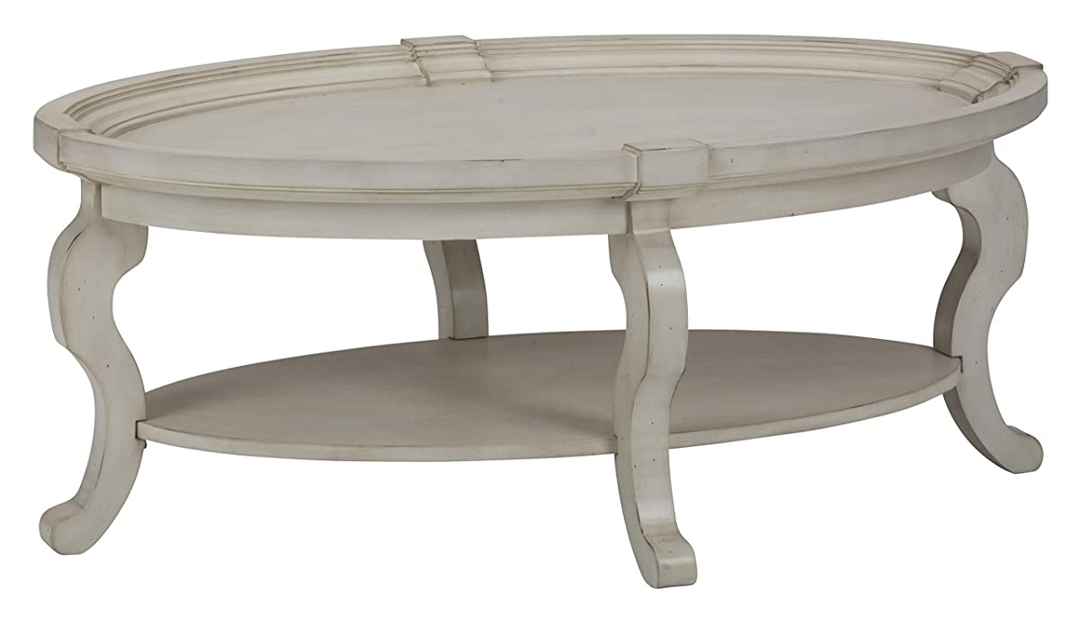 Jofran Sebastian Oval Coffee Table in Antique Cream