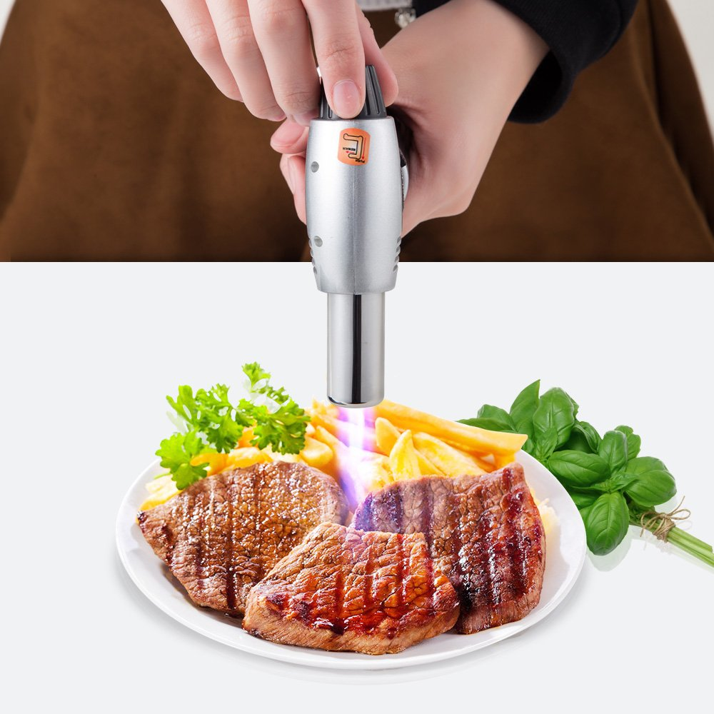 SMAGREHO Professional Kitchen Butane Culinary Torch for Creme Brulee and Food , refillable (butane gas not included)