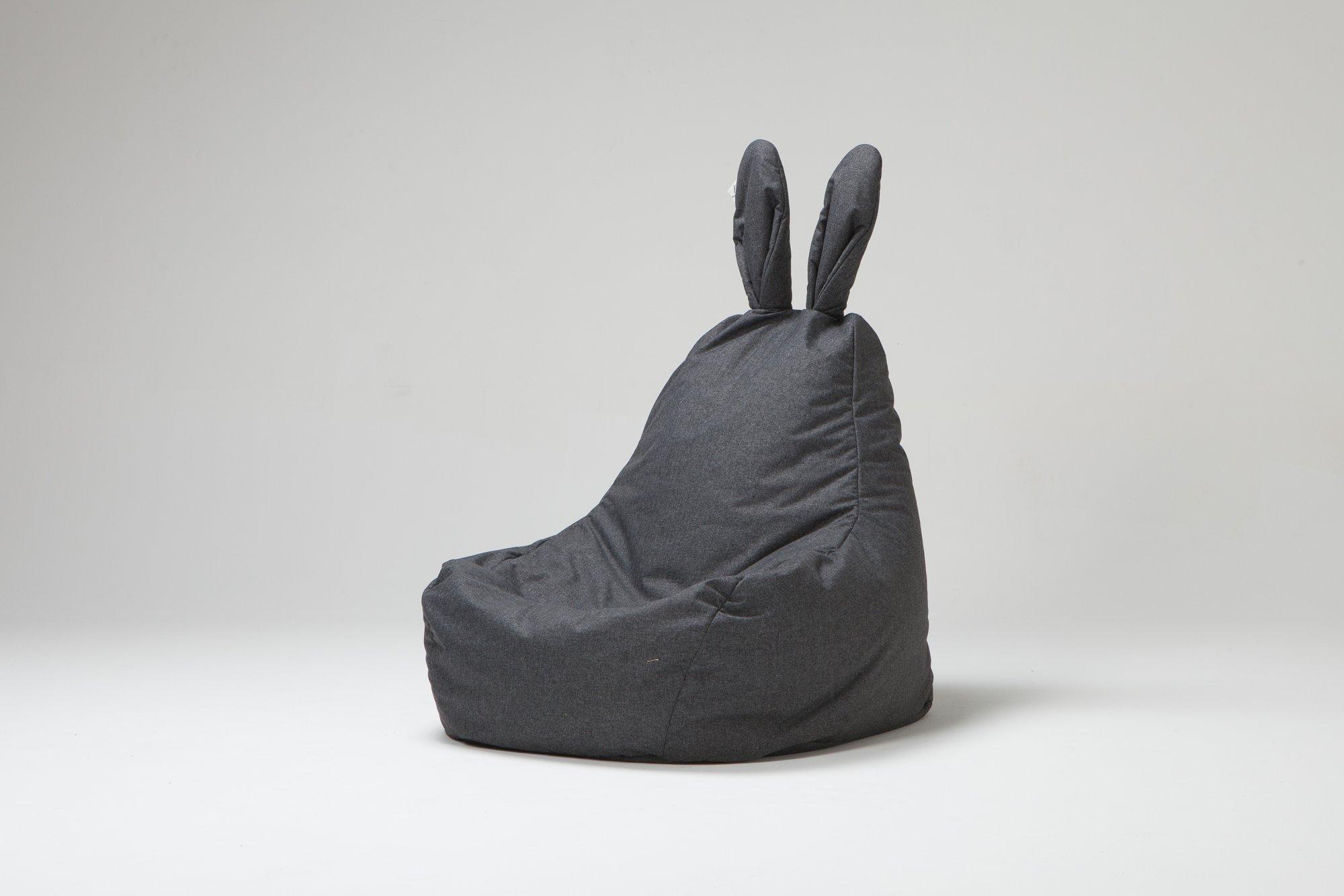 rabito Bean Bag rabito ソファ ソファー 座イス 1人用 うさぎ 尻尾 シッポ プレゼント 家具 椅子 イス rabito ウサミミ (Rabito Bean Bag Dark GRAY)