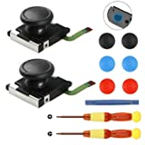 2-Pack 3D Replacement Joystick Analog Thumb Stick for Nintendo Switch Joy-con Controller Vivefox Joycon Joystick Replacement for Left Joy-con Right Switch Joy-con Controller