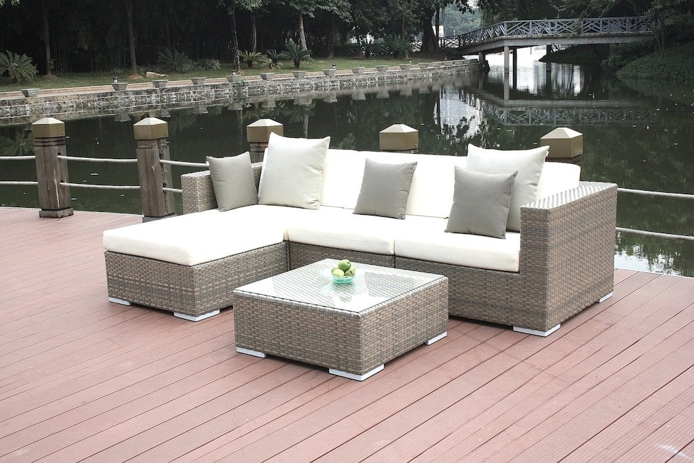 talfa polyrattan gartenm bel lounge mesa grau g nstig. Black Bedroom Furniture Sets. Home Design Ideas