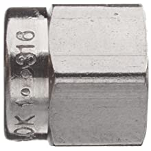 Parker A-Lok 1NU1-316 316 Stainless Steel Compression Tube Fitting, Nut, Tube OD