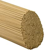 "Wooden Dowel Rods – 3/16"" x 18"" Unfinished Hardwood Sticks – for Crafts and DIY'ers – 100 Pieces – Woodpecker Crafts"