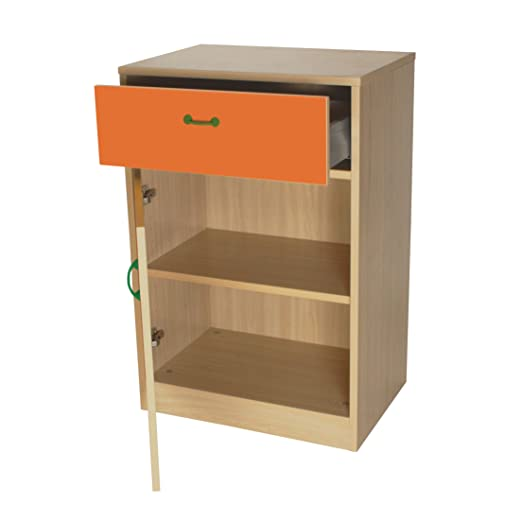 mobeduc armario, madera, naranja, 60x 90x 42cm