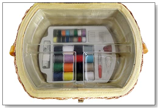 Michley Sewing Basket with Sewing Kit