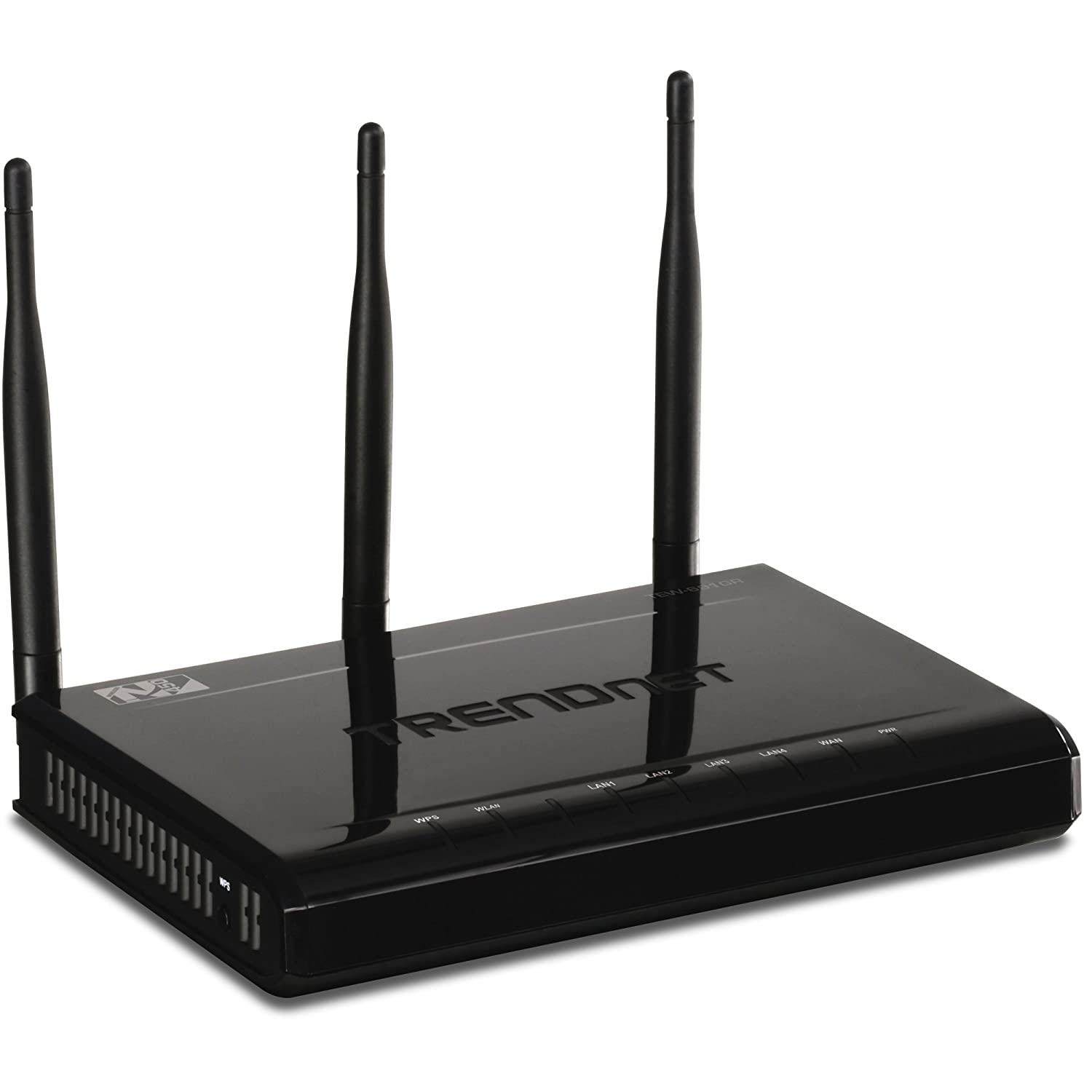 TRENDnet 450 Mbps Wireless N Gigabit Router TEW-691GR (Piano Black)
