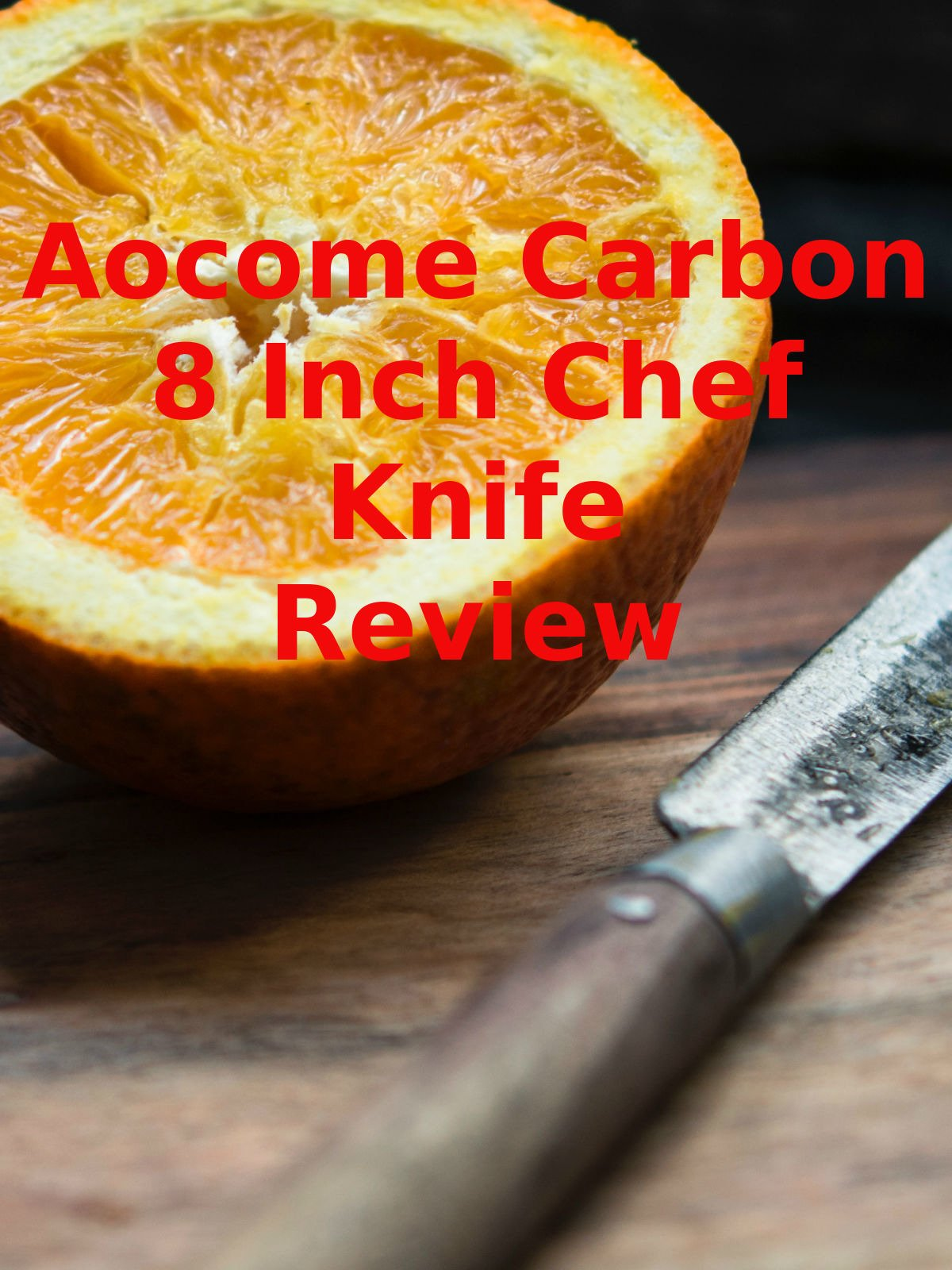 Review: Aocome Carbon 8 Inch Chef Knife Review on Amazon Prime Video UK
