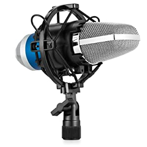 Symphaudio CM-1B Condenser Microphone Kit Professional Broadcasting Studio Recording Mic with Included Microphone Sponge - Shock Mount - 3.5mm Cable