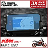 3 x KTM Duke 390 (2017>) Dashboard / Instrument Cluster screen protector - Anti-Glare