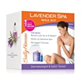 Sally Hansen Lavender Spa Wax Hair Removal Kit for Body Legs Arms and Bikini Area, Soothing Formula for Sensitive Skin, Microwaveable Wax No Warmer Re