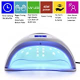 MAKARTT 48W UV LED Nail Lamp with 3 Timer Setting LED Gel Polish Nail Dryer Fast Curing for Both Hands and Feet Nail Art UV Light C-07 (Color: Makartt Nail Lamp, Tamaño: 48W UV LED Nail Dryer(30/60/99s Timing))