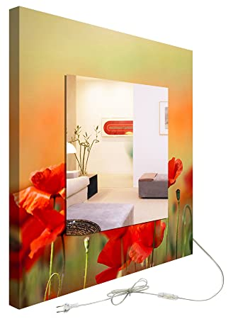 decoralive Poppy Backlit Mirror 61.00x61.00x6.00 cm multicoloured