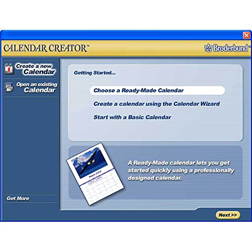 PC Software Lifestyle Calendar Creator Version 7 Broderbund Best
