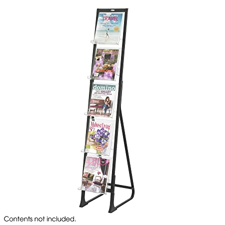 Safco Products 4111BL In-View Free Standing Display, Black