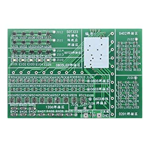 Solder Practice Board, SMD Components Practice Board Solder Kit Soldering Training Kit DIY Kit RGB LED Flashing Controller