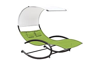 Vivere CHAISERK2-GA Rocker Double Chaise Pomme Vert 190,5 x 142 x 178 cm