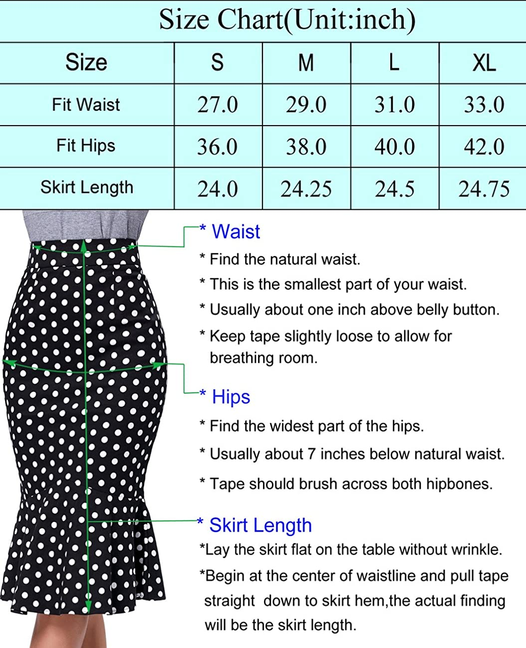 Kate Kasin®Women's Vintage Knee-Length Split Pencil Skirts 4